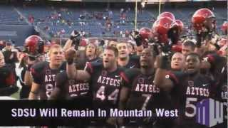 San Diego State to Remain a Member of the Mountain West Conference