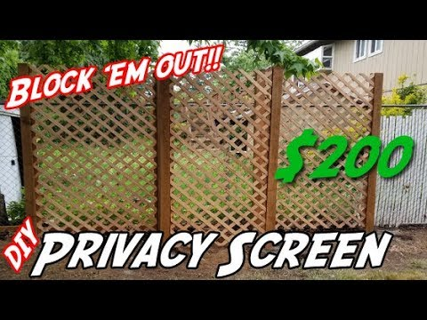 how to build a privacy wall diy privacy screen diy lattice privacy wall