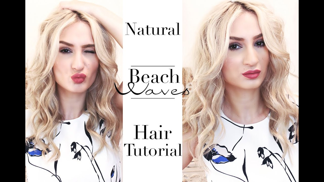 Beach Waves Hair Tutorial Strand Wellen Look Mit Lockenstab Youtube