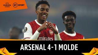 Arsenal vs Molde (4-1) | Europa League Highlights