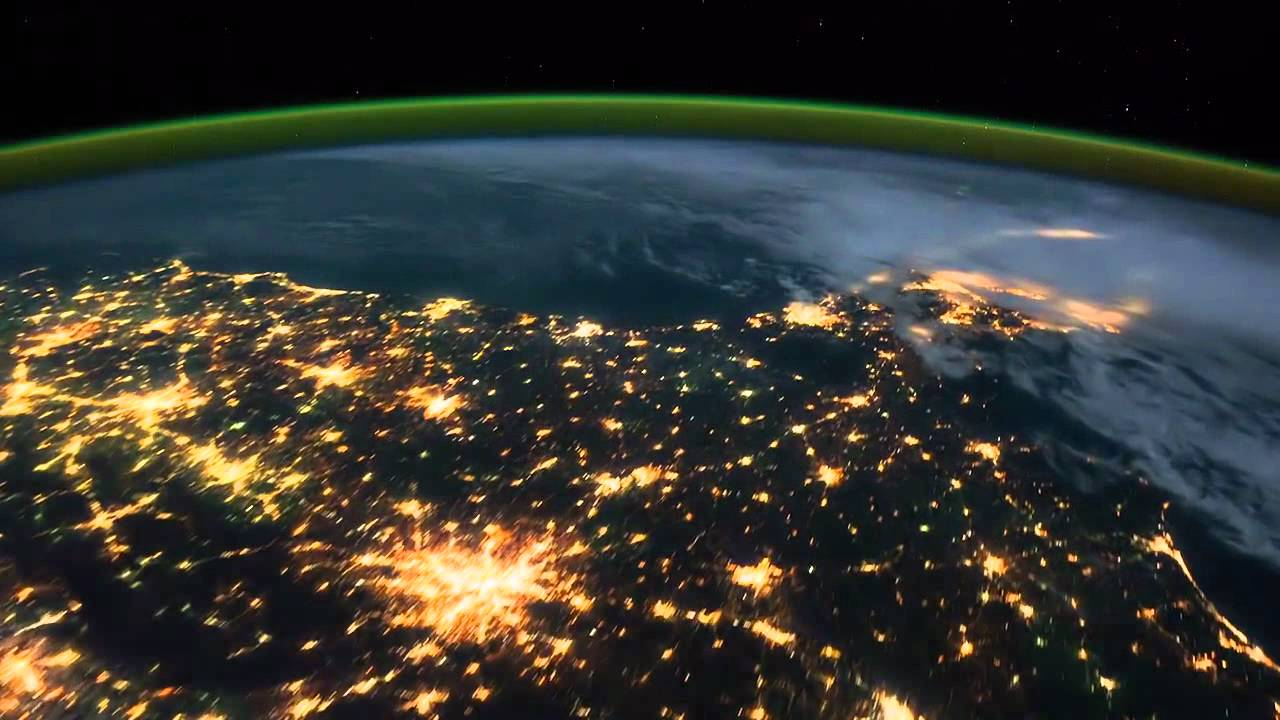 La Tierra De Noche Desde El Espacio The Earth At Night From Space Nasa Iss Youtube