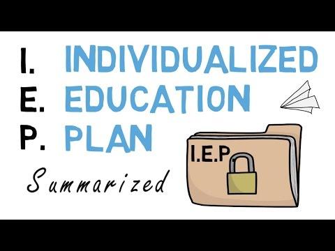 IEP Individualized Education Plan: Summarized & Explained