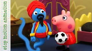 Genie's lamp  Peppa Pig TV toys stop motion animation in english