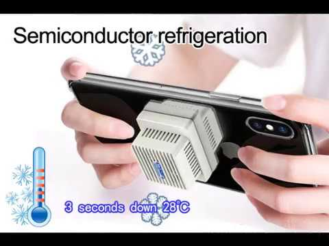 Phone Micro Cooler Semiconductor Fast Cooling Cellphone Fan 2 in 1 Phone  Case