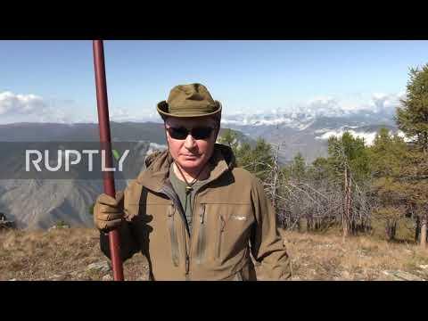 Russia: Putin enjoys Siberian taiga on the eve of his birthday