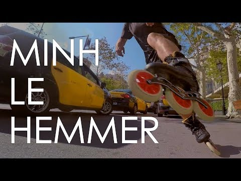 MINH LE HEMMER - INLINE SKATING WITH 125MM TRISKATES IN THE STREETS OF BARCELONA