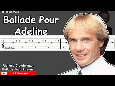 Ballade Pour Adeline - Richard Clayderman Guitar Tutorial