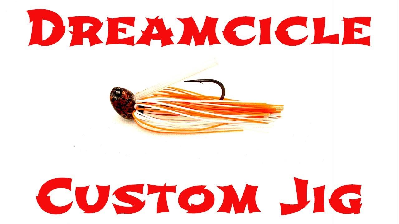 Dreamcile Skirt Custom Lure Jig - by Big Sack Baits for MaPop Fishing