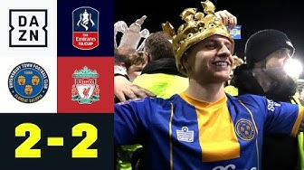 Doppelter Cummings schockt CL-Sieger: Shrewsbury - Liverpool 2:2 | FA Cup | DAZN Highlights