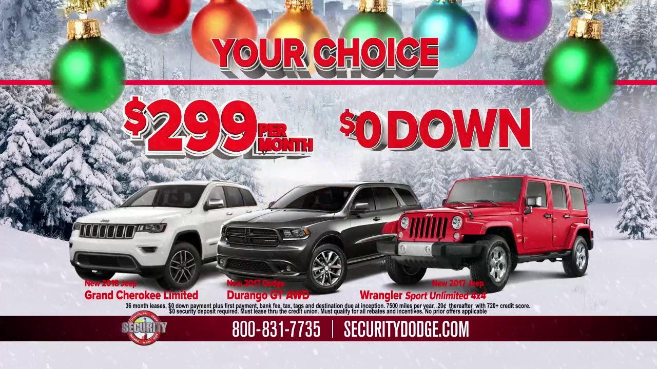 final year end sales event at security dodge chrysler jeep ram youtube. Black Bedroom Furniture Sets. Home Design Ideas