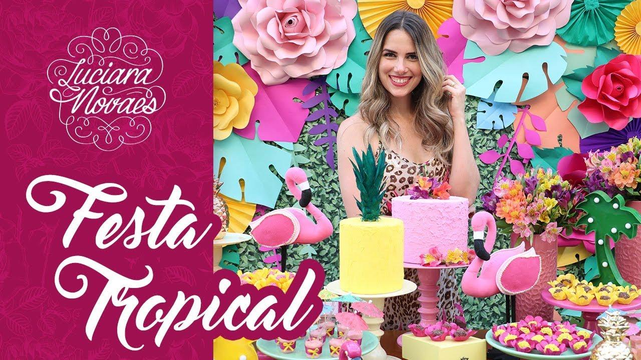 Festa De 15 Anos Simples: Festa Tropical Em Casa