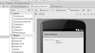 Android Studio Tutorial - 14 - Working with Spinner