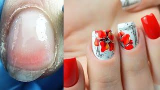 Ужасные Перепилы Аппаратный Маникюр Весенний Дизайн Ногтей Цветы Виктория Авдеева 2020