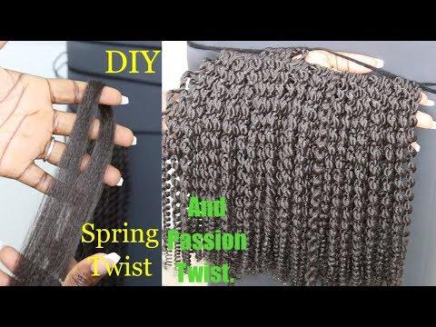 DIY: Spring Twist And Passion Twist Using Braiding Hair | 2 Methods | Dilias Empire.