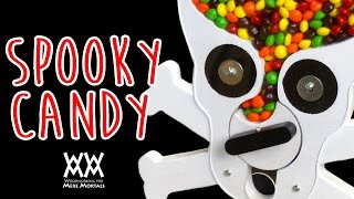 You can make this candy dispenser can be in an afternoon using scra...