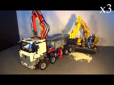 lego technic lkw und lego bagger 4 teil 1 youtube. Black Bedroom Furniture Sets. Home Design Ideas