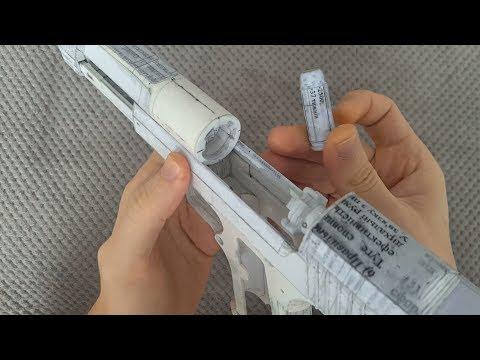 Paper Desert Eagle bolt, extractor, ejector