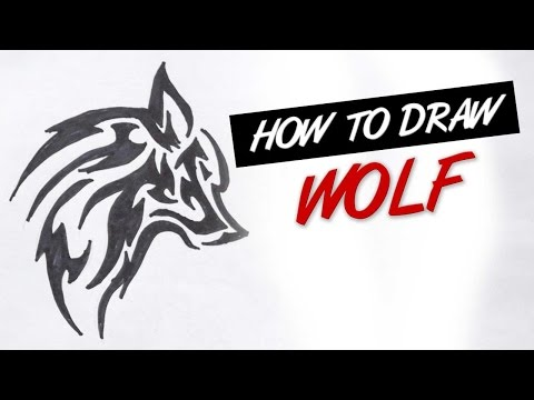 How To Draw Tribal Wolf Tattoo Design