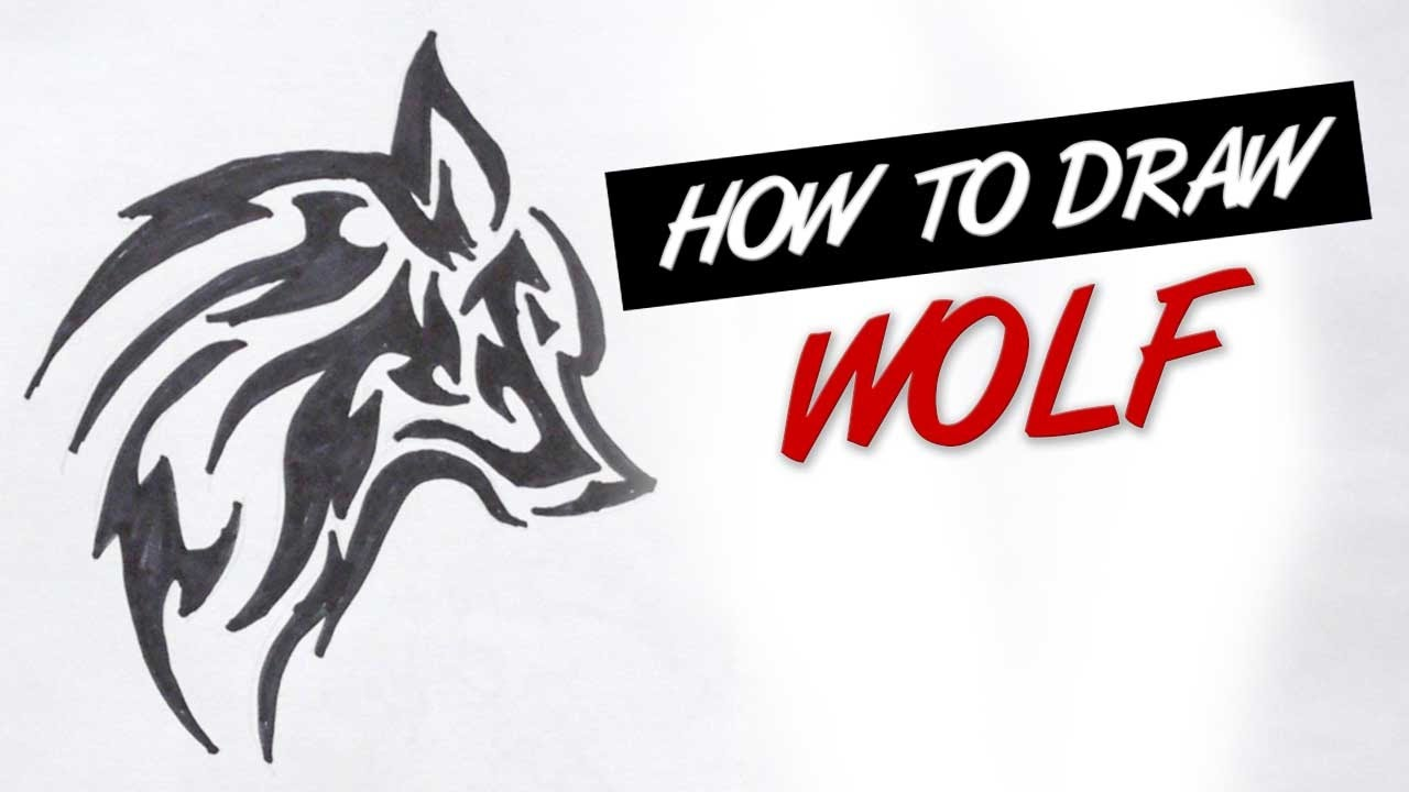 How To Draw Tribal Wolf Tattoo Design #10