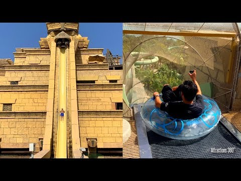 Atlantis Aquaventure - Water Slides & River Rapids POV - Water Park