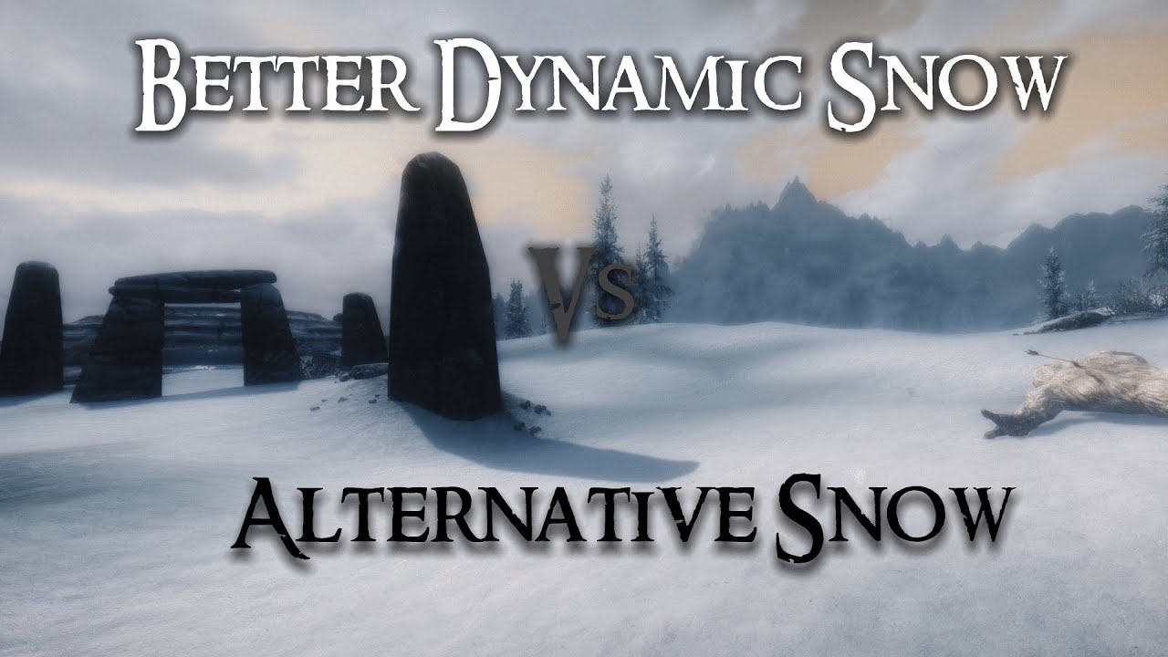 Skyrim Mod Comparison - Better Dynamic Snow Vs  Alternative Snow