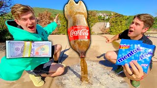 BEST COKE AND MENTOS ROCKET WINS $10,000