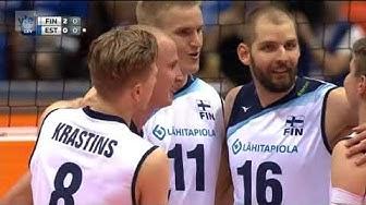 Lentopallon EM 2017 | Suomi - Viro 3-2