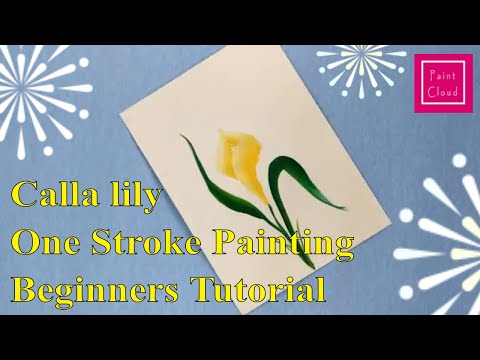 learn-how-to-paint-calla-lily|-arum-lily-|-one-stroke-painting-for-beginners