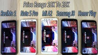 Xiaomi Mi A2 Vs Note 5 Pro Vs Honor Play Vs Samsung J8 Vs Realme 1 !! Speed Test Comparision !! HIND
