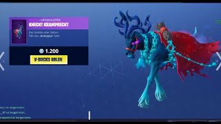 Fortnite *NEW* KRAMPUS SKIN - GÖRENFÄNGER AXT / Glühweinagentin Skin Itemshop 24.12.2018