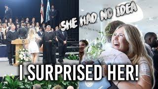 surprising my girlfriend at graduation