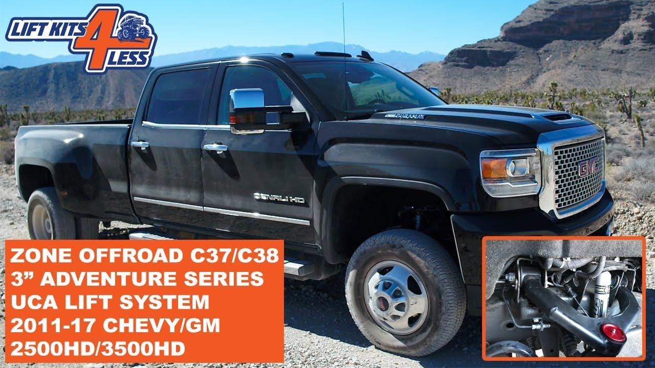 zone offroad c37n c38n adventure series 3 uca lift kit chevy gm 2500hd 3500hd youtube