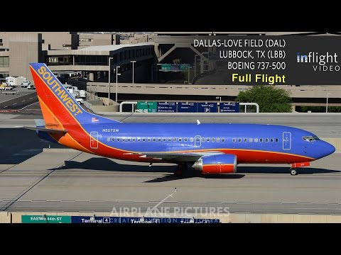 Southwest Airlines Full Flight | Dallas to Lubbock, TX | Boeing 737-500