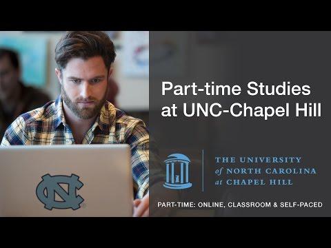 Part-time Studies at UNC-Chapel Hill   Exceptional, Flexible Education
