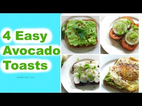 How To Eat An Avocado - 4 Easy Avocado Toasts - Healthy Breakfast Recipes | Nisa Homey