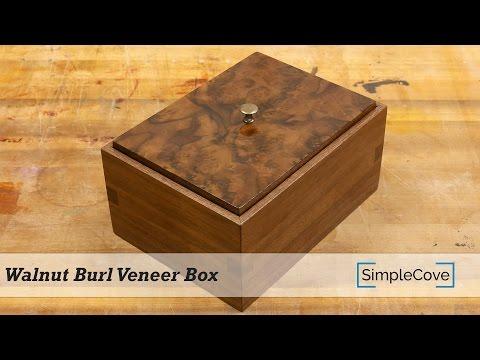 Walnut Burl Veneer Box