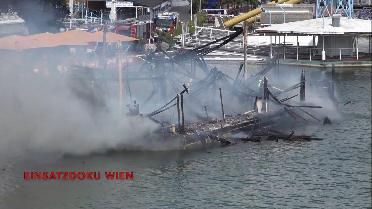 Wien: Schwimmendes Restaurant auf Donau-Insel in Flammen ...