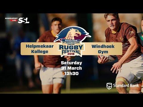 St John's Rugby Festival 2018 - Helpmekaar Kollege vs Windhoek Gym, 31 March