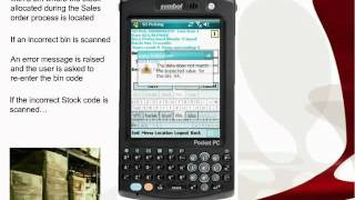 Sales order pick and dispatch with Sage 200 and Datalinx barcode software