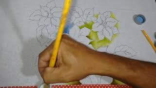 Roberto Ferreira – Aprenda a Desenhar e Pintar, Flor de Natal, Fundo e Folhas