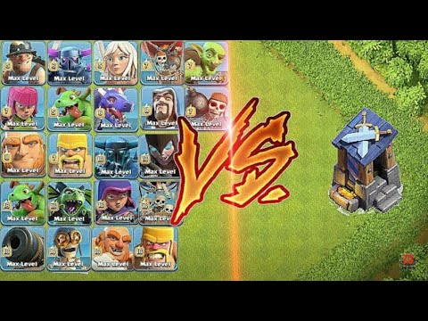 Max Guard Post Vs Every Single Troops | Clash Of Clan | Epic CLASH