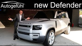 all-new Land Rover Defender REVIEW Exterior Interior 2020 - Autogefühl