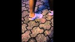 Viviens Adidas Superstar in weiß