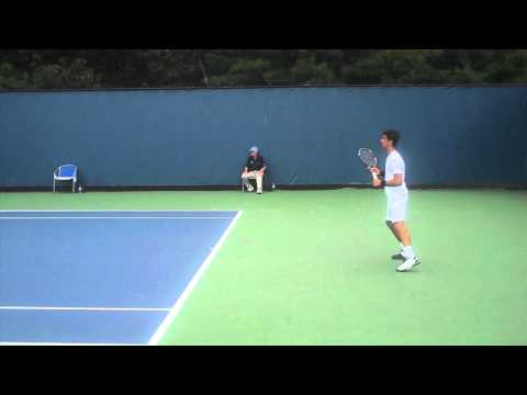 Thomaz Bellucci serves at Pilot Pen 2010 in HD