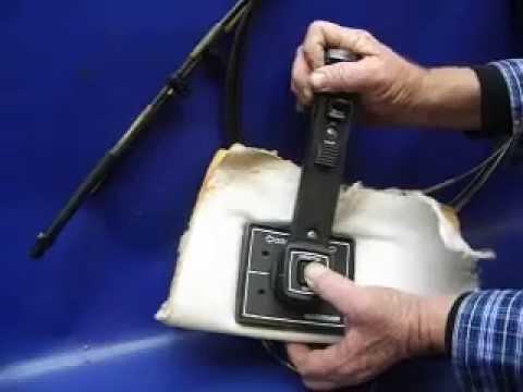 mercruiser wiring diagram 5 7 2009 jetta sold quicksilver shifter control handle flush mount - youtube