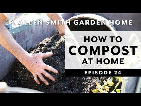 DIY Trash Can Compost Bin | At Home Composting: Garden Home VLOG (2019)