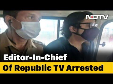 Arnab Goswami, TV Journalist, Is Arrested in Mumbai