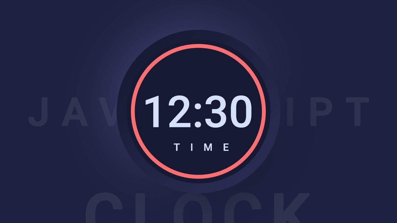 Create Digital Clock Using JavaScript | Vanilla JS Clock