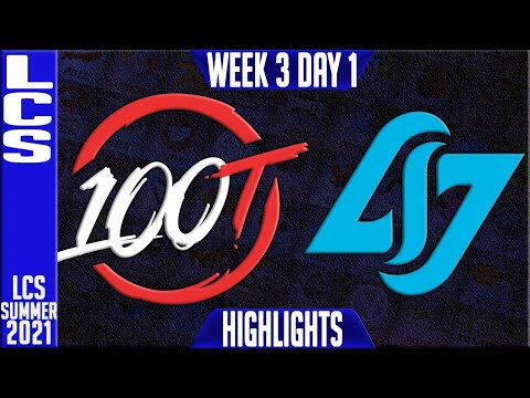 100 Thieves vs CLG | Week 3 Day 1 S11 LCS Summer 2021 | 100 vs CLG W3D1 Full Game
