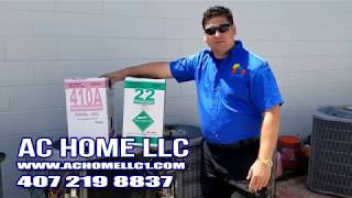 AC HOME LLC R22 vs 410A changing to new 410a system